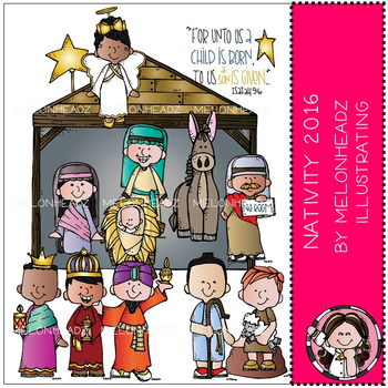 Melonheadz: Nativity clip art 2016 - Combo Pack
