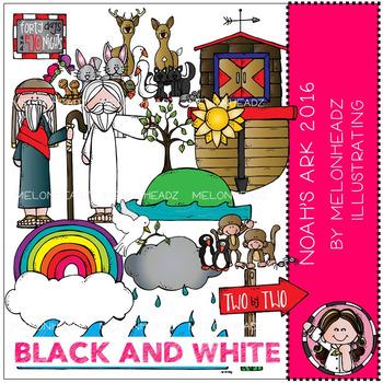 Melonheadz: Noah's Ark 2016 clip art - BLACK AND WHITE
