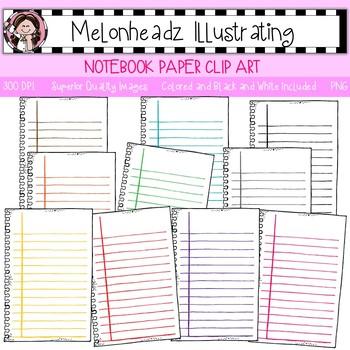 Notebook Paper clip art - Single Image - by Melonheadz
