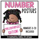 Melonheadz Number Posters