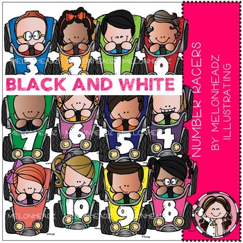 Melonheadz: Number Racers BLACK AND WHITE