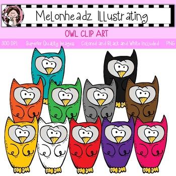 Melonheadz: Owl clip art - Single Image