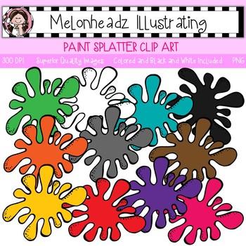 Melonheadz: Paint Splatter clip art - Single Image