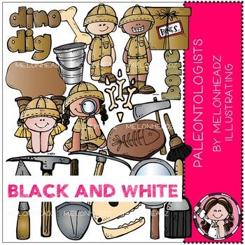 Melonheadz: Paleontologists BLACK AND WHITE