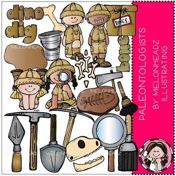 Paleontologists clip art - COMBO PACK - by Melonheadz