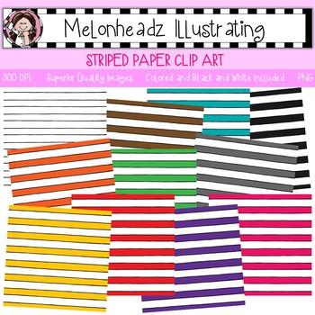 Melonheadz: Paper clip art - Striped - Single Image