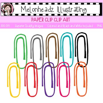 Melonheadz: Paper clip clip art - Single Image