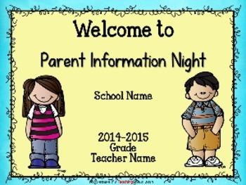 Melonheadz Parent Information Night Power Point Template