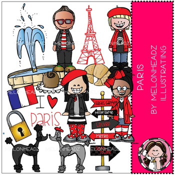 Melonheadz: Paris clip art - COMBO PACK