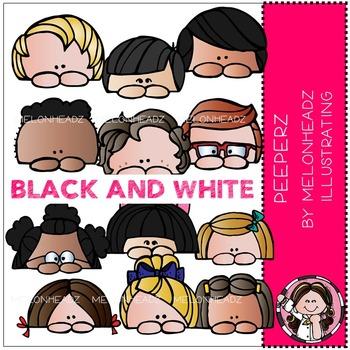 Peeperz clip art - BLACK AND WHITE - by Melonheadz