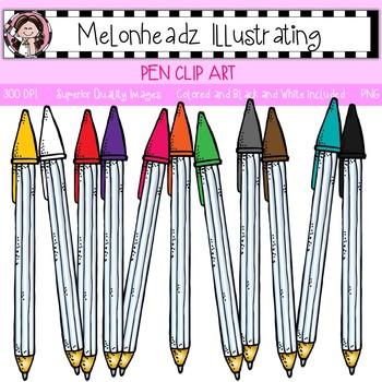 Melonheadz: Pen clip art - Single Image