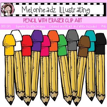 Melonheadz: Pencil with Eraser clip art - Single Image