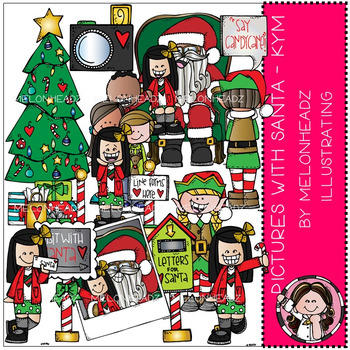 Melonheadz: Pictures with Santa clip art - Kym - Combo Pack
