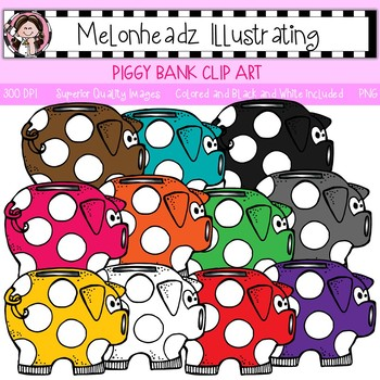 Melonheadz: Piggy Bank clip art - Single Image