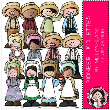 Pioneer clip art - kidlettes - COMBO PACK - by Melonheadz