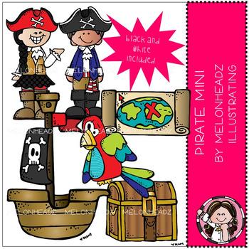 Melonheadz: Pirate clip art Mini set
