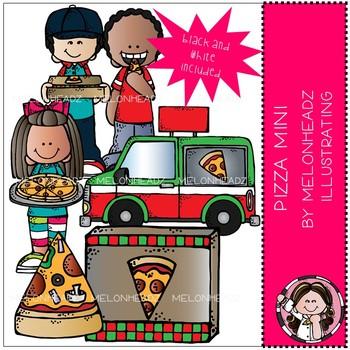 Melonheadz: Pizza clip art Mini set