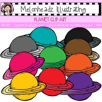 Planet clip art - Single Image - by Melonheadz