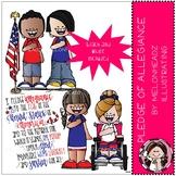 Pledge of Allegiance clip art - Mini - by Melonheadz