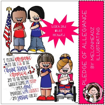 Pledge of Allegiance clip art - Mini - by Melonheadz