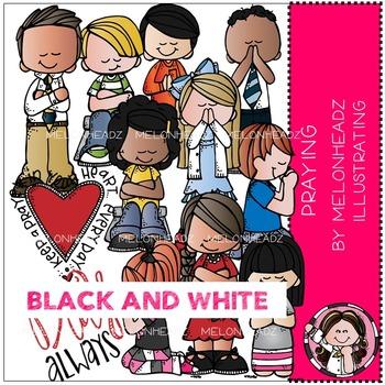 Melonheadz: Praying BLACK AND WHITE