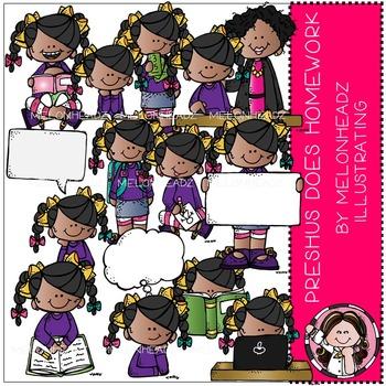 Preshus Does Homework clip art - COMBO PACK - by Melonheadz