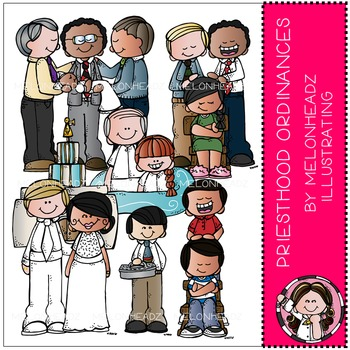 Priesthood Ordinances clip art - LDS - COMBO PACK - by Melonheadz