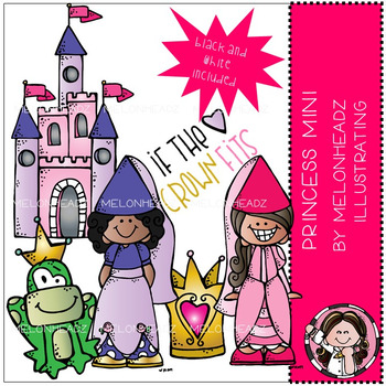 Melonheadz: Princess clip art Mini set