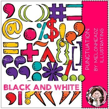 Melonheadz: Punctuation clip art - BLACK AND WHITE