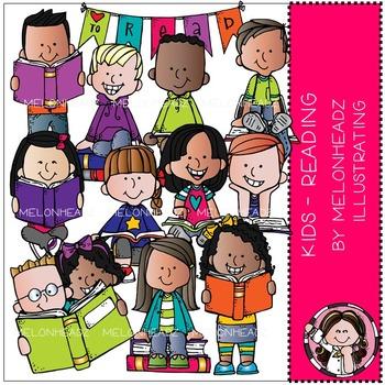 Melonheadz: Reading clip art - Kids