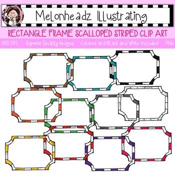Melonheadz: Rectangle Frame clip art - Scalloped - Single Image