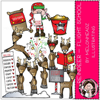 Reindeer clip art - Flight School - Combo Pack - by Melonheadz
