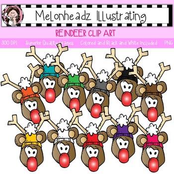 Melonheadz: Reindeer clip art - Single Image