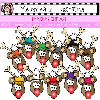 Reindeer clip art - Single Image - by Melonheadz