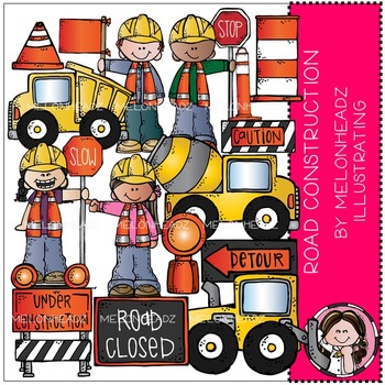 Road Construction clip art - COMBO PACK - by Melonheadz
