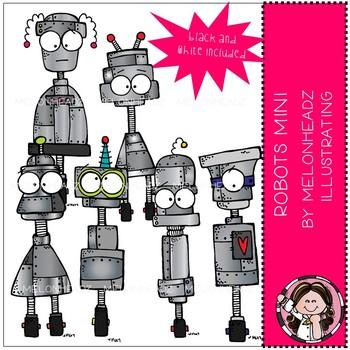 Melonheadz: Robots clip art Mini Set