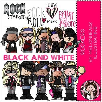 Melonheadz: Rockers BLACK AND WHITE