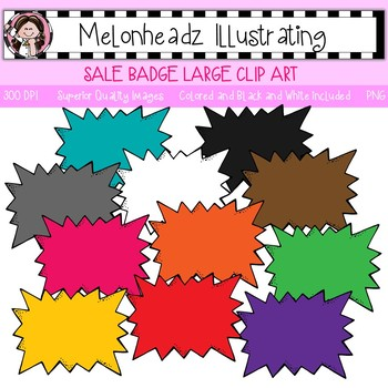 Melonheadz: Sale Badge clip art - Large - Single Image`