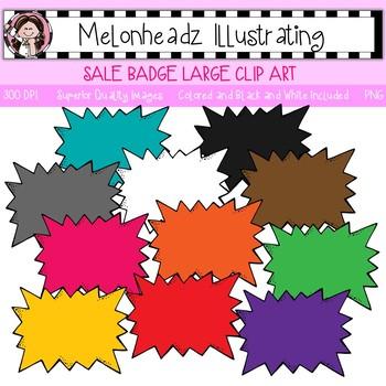 Sale Badge clip art - Large - Single Image`- by Melonheadz