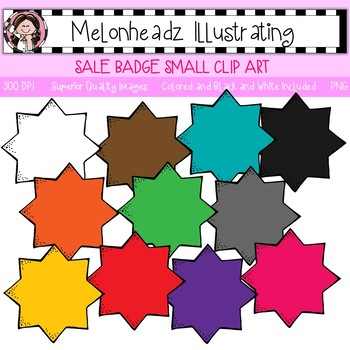 Sale Badge clip art - Small - Single Image - by Melonheadz