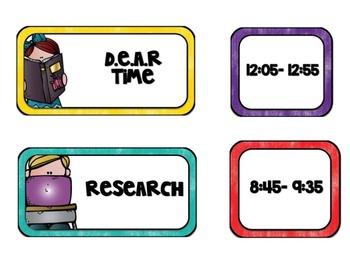 Melonheadz Schedule Cards EDITABLE