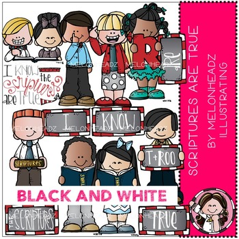 Melonheadz: Scriptures are True BLACK AND WHITE