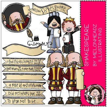 Shakespeare clip art - COMBO PACK - by Melonheadz