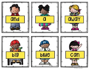 Editable Dolch Sight Word Cards