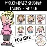 Melonheadz Simple Student Labels - Editable!