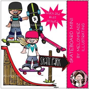 Skateboard clip art - Mini - by Melonheadz
