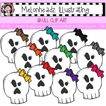 Skull clip art - Single Image - by Melonheadz