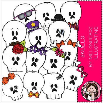 Skulls clip art - COMBO PACK - by Melonheadz