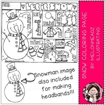 Melonheadz: Snow Coloring Page Freebie