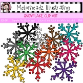 Snowflake clip art - Single Image - by Melonheadz